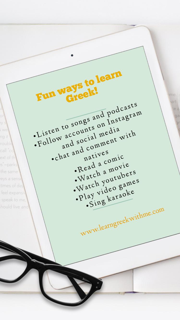 Fun ways to learn Greek!